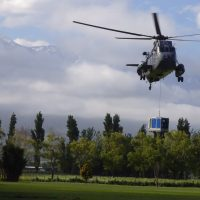BA150E D285 airlifted by helicopter BBA Pumps