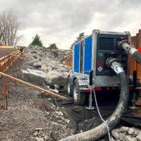 BA150E D285 trailer mounted diesel pump package - BBA Pumps