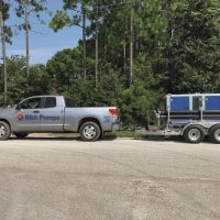 BA150E D285 trailer mounted with HDPE pipes